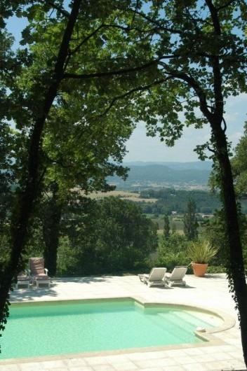 Location de vacances - Chambre d'hôtes à Saint-Lager-Bressac - Vue depuis la piscine