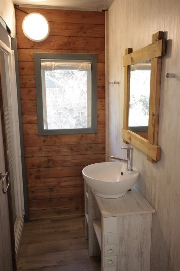 Location de vacances - Bungalow - Mobilhome à La Garette - Chalet toilé 60m2 6/8 personnes (salle de bain)