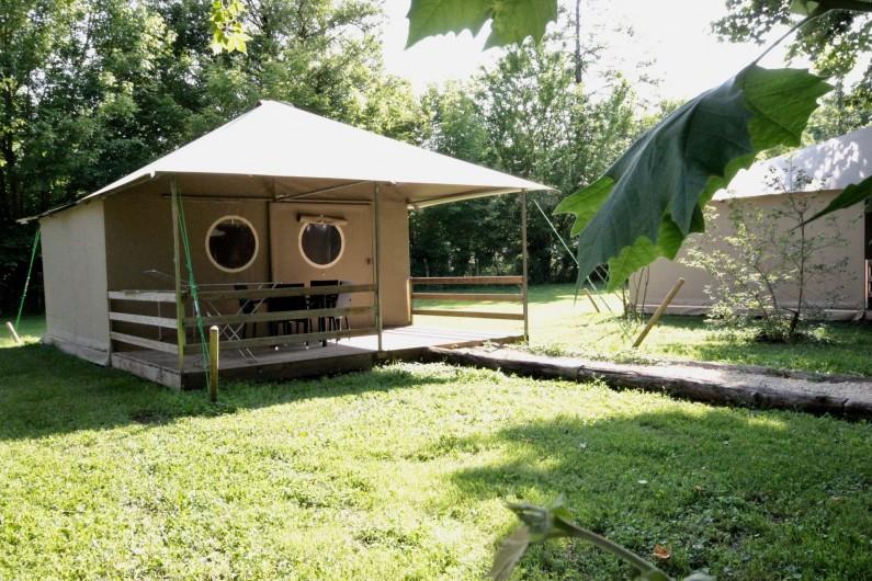 Location de vacances - Bungalow - Mobilhome à La Garette - Bungalow toilé 40m2 4 personnes (avec eau)