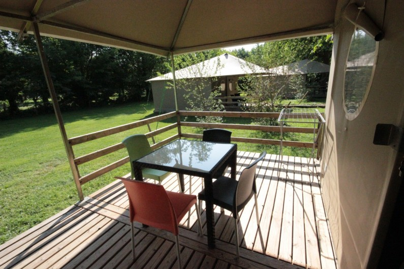 Location de vacances - Bungalow - Mobilhome à La Garette - Bungalow toilé 40m2 4 personnes (terrasse)