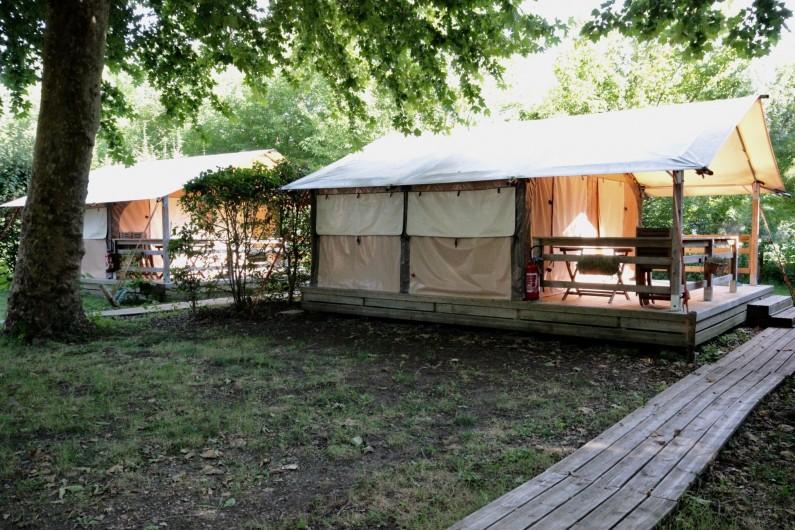 Location de vacances - Bungalow - Mobilhome à La Garette - Bungalow toilé 40m2 5 personnes (sans eau)