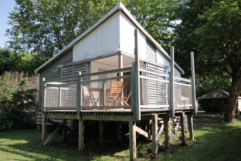 Location de vacances - Bungalow - Mobilhome à La Garette - Chalet toilé 60m2 6/8 personnes (avec eau)