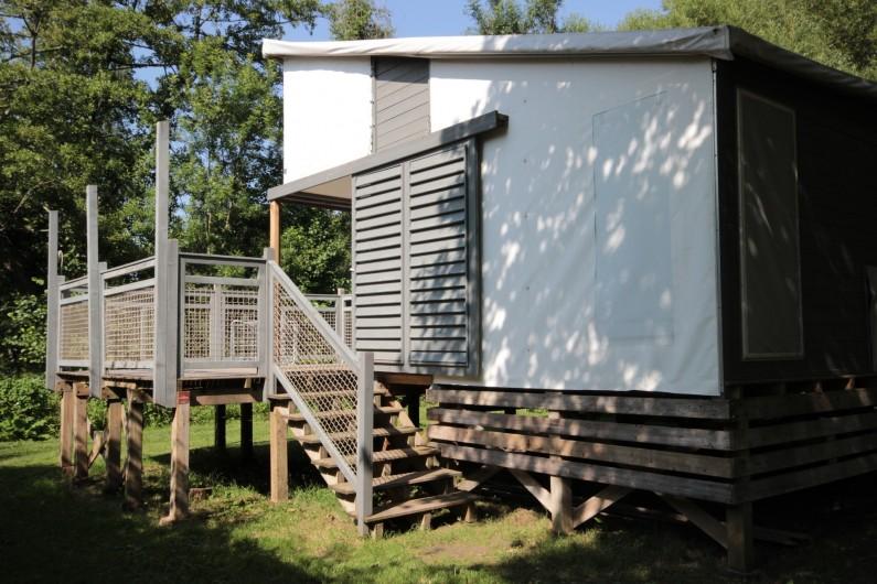Location de vacances - Bungalow - Mobilhome à La Garette - Chalet toilé 60m2 6/8 personnes (terrasse)
