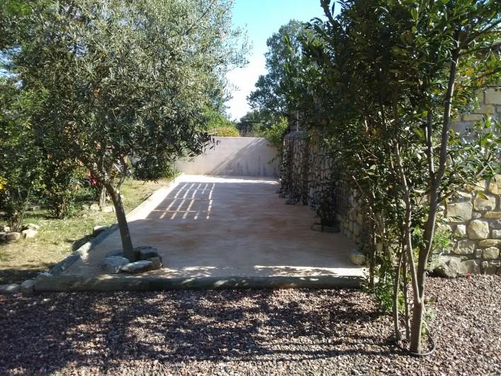 Location de vacances - Mas à Bouquet - Le terrain de pétanque