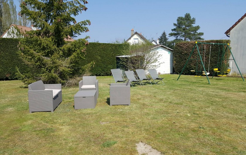 Location de vacances - Maison - Villa à Tour-en-Sologne - Espace détente jardin