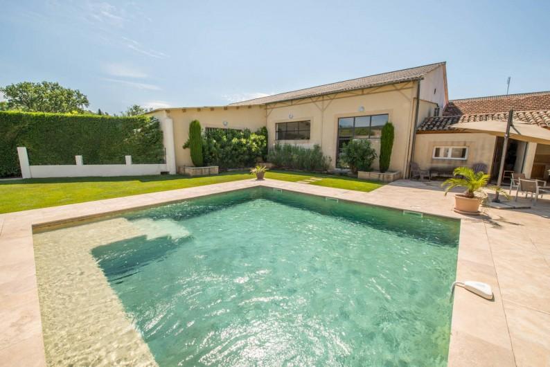 Location de vacances - Mas à Visan - piscine chauffée et sécurisée