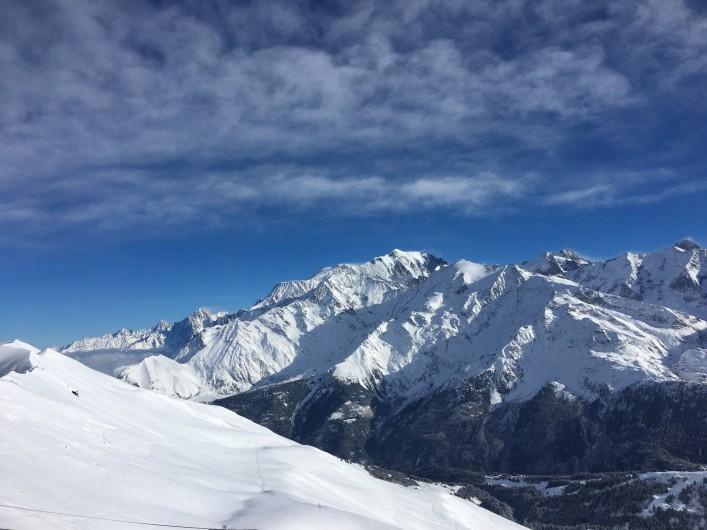 Location de vacances - Chalet à Les Contamines-Montjoie - Vue du Domaine skiable - Mont Blanc