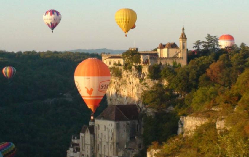 Location de vacances - Gîte à Le Bougayrou - Montgolfières au-dessus de Rocamadour